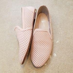 Yosi Samra Preslie Blush Pink Leather Loafers